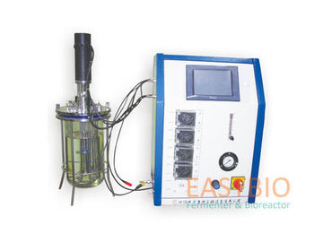 Glass Lab Scale Fermenter , Laboratory Equipment Autoclavable Mechanical Stirred