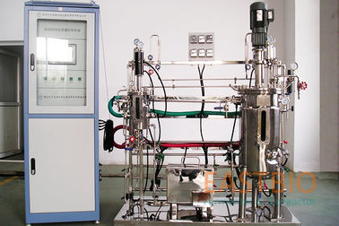 China Multistep Stainless Steel Bioreactor Mechenical Stirred 7L-70L AC Motor With Gear Box factory