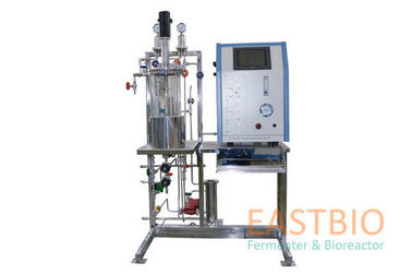 China Glass Lab Scale 10 Litre Fermenter Mechanical Stirred 0-1000rpm±1% Floor Stand factory