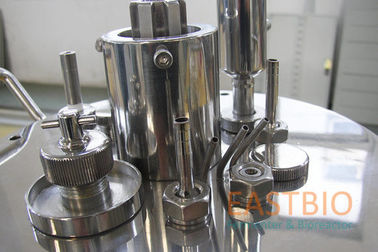 China Jacketed Mechanical Stirred Glass Fermenter , Benchtop Bioreactor Servo Motor factory