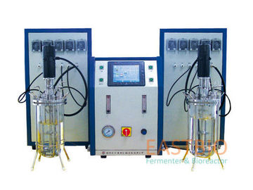 China Benchtop Glass Fermenter 4 Peristaltic Pumps Hamilton PH Electrode DC Driver factory